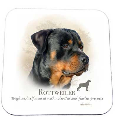 Howard Robinson drink coaster - Rottweiler design
