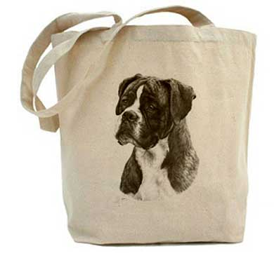 Mike Sibley Oslo canvas tote bag - Boxer design